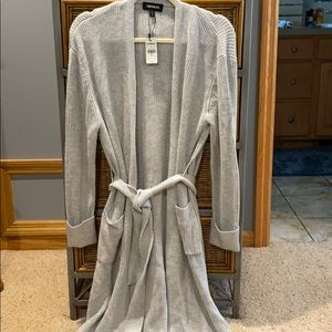 NWT-Express Gray Belted Cardigan Sweater-XS-$79